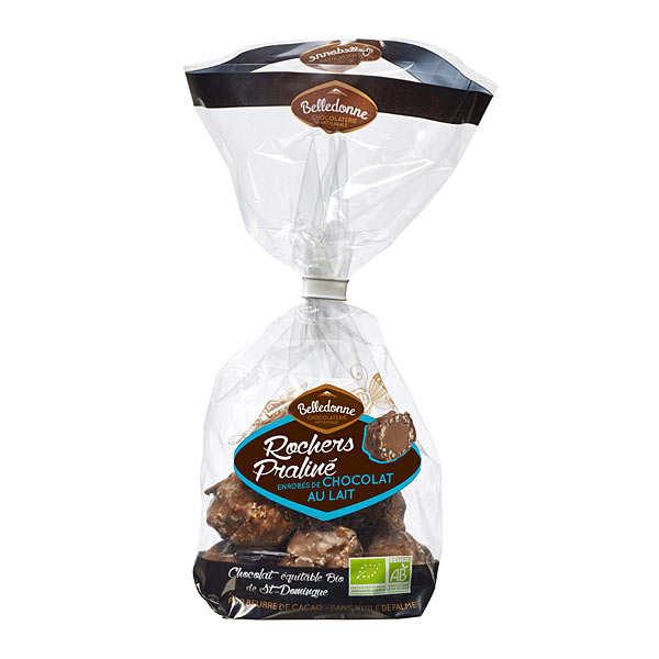Rochers pralinés chocolat au lait bio