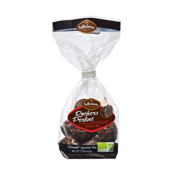 Rochers pralinés chocolat noir bio