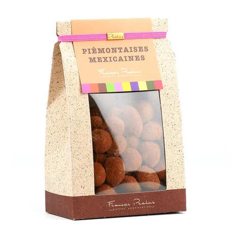 Chocolats François Pralus - Noisettes et Amandes enrobées de chocolat - Piémontaises - Mexicaines Pralus