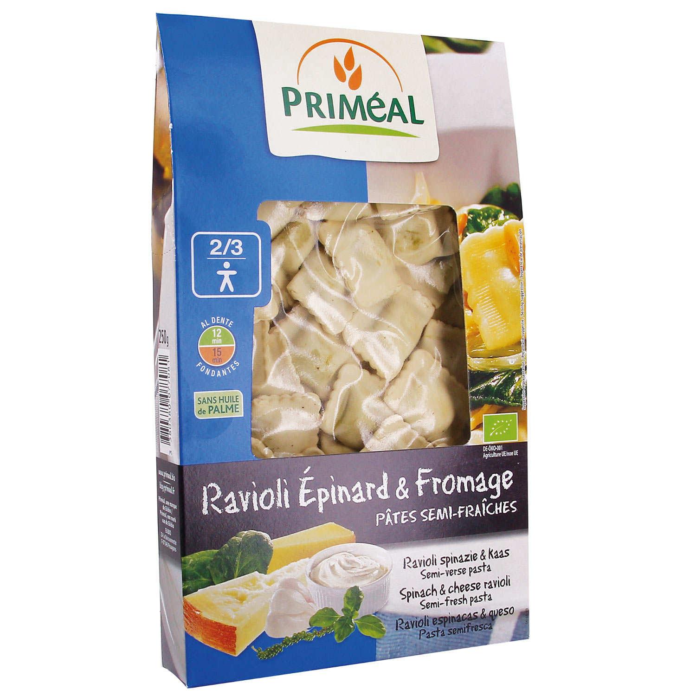 Organic Spinach and Cheese Raviolis