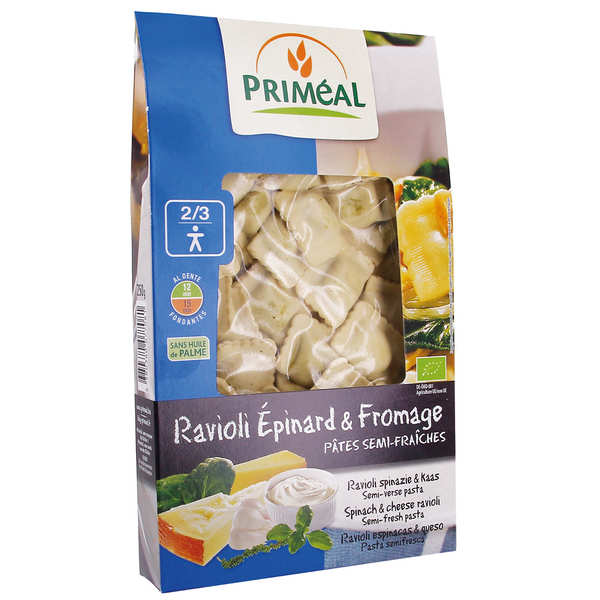 Organic Spinach and Cheese Raviolis