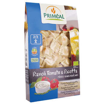 Priméal - Organic Tomato and Cheese Raviolis
