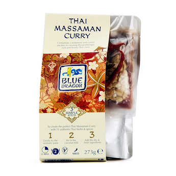 Blue Dragon - Sauce au curry massaman thaï en 3 étapes