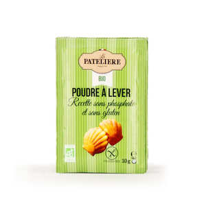 La Patelière bio - Organic Baking powder without phosphate and gluten free