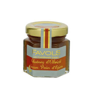 Favols - Chutney d'abricot - Façon pain d'épices