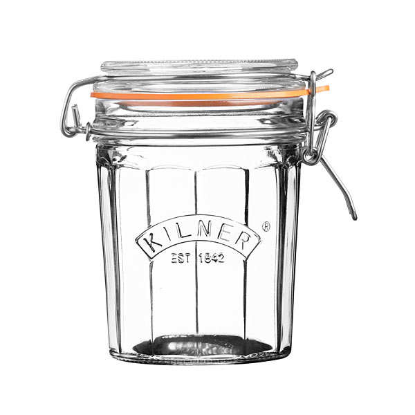 Faceted Clip Top Jar