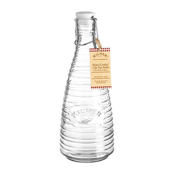 Water or Cordial Clip Top Bottle