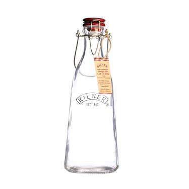 Bouteille en verre avec bouchon et anse