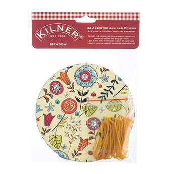 Kilner - Meadow Jam Jar Covers and Elastic Bands