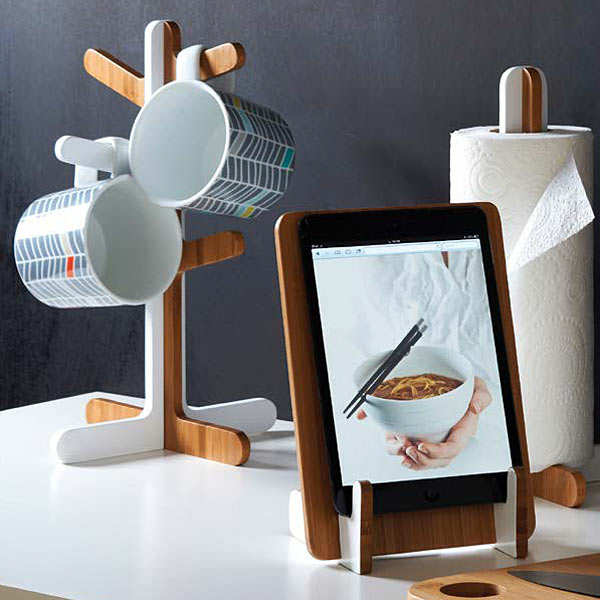 Bamboo Tablet and Recipe Book Stand