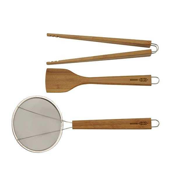 Set 3 ustensiles japonais en bambou