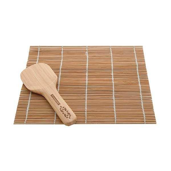 tapis et spatule pour sushis en bambou typhoon. Black Bedroom Furniture Sets. Home Design Ideas