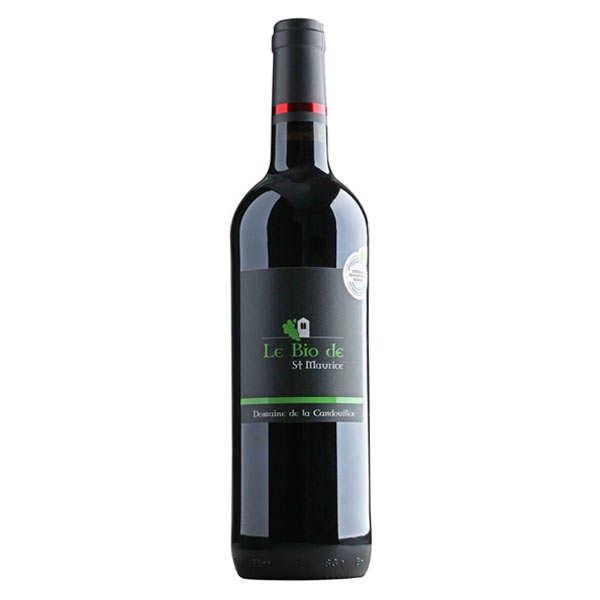 Le bio de saint-maurice - domaine de la candouillère - igp cévennes - rouge - 2016 - bouteille 75cl