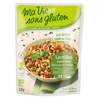 Ma vie sans gluten - Céréales cuisinées lentilles, soja, duo riz sarrasin bio et sans gluten