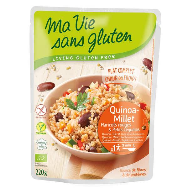 Céréales cuisinées quinoa-millet, haricots rouges, légumes bio et sans gluten