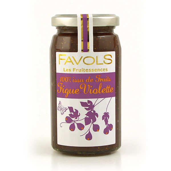 Confiture de figue violette 100% fruit - Les Fruitessences Favols