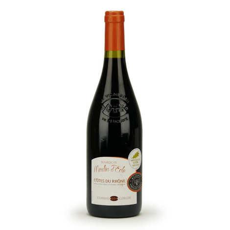 Les vignerons de l'Enclave - Côtes du Rhône Marquis Moulin d'Eole - Red wine