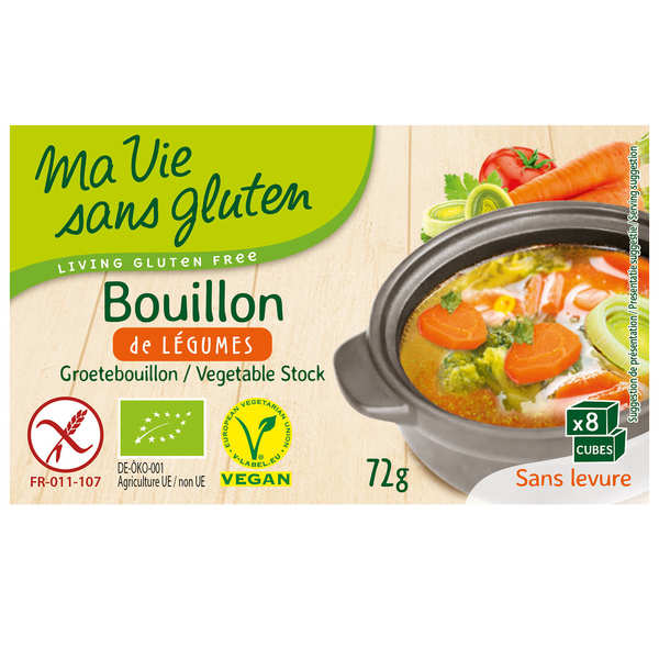 Bouillon de légumes bio et sans gluten