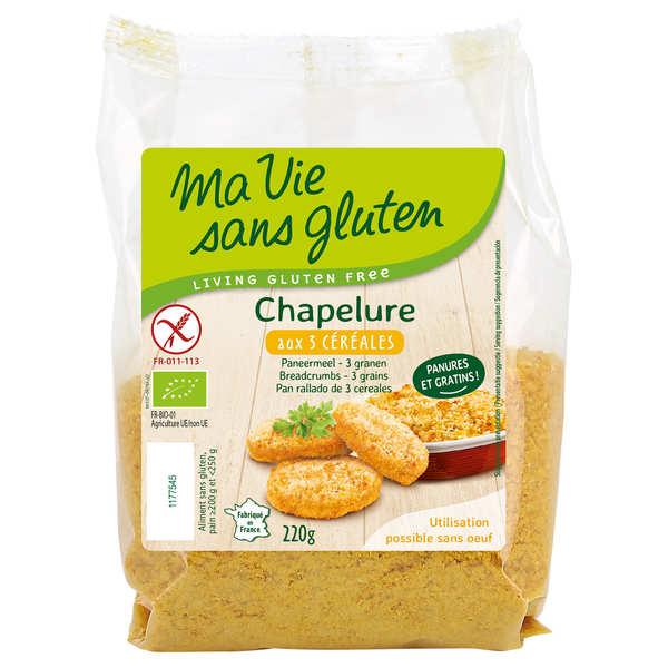 Chapelure bio 3 céréales sans gluten