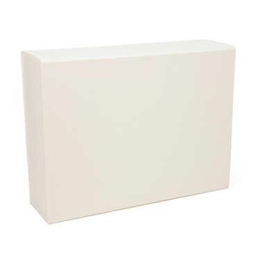 Boite cadeau rectangle aimantée - blanche