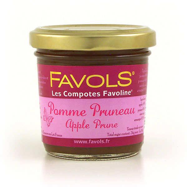 Compote pomme pruneau Favoline