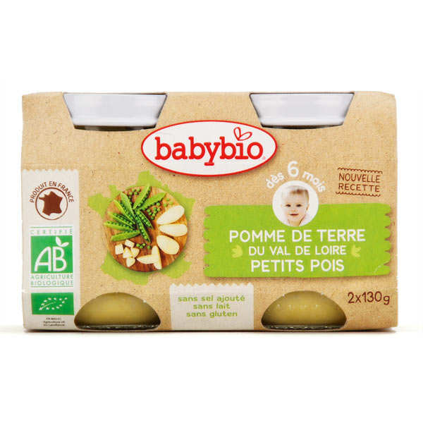 Organic Potato and Peas Baby Food Jar from 6 Months