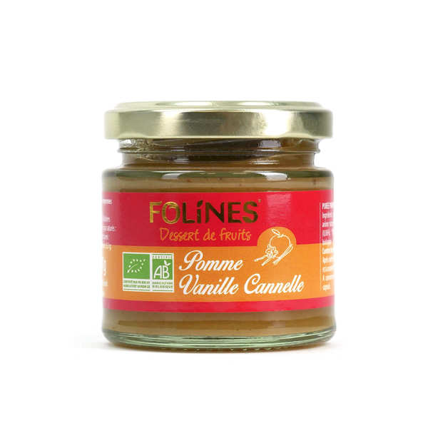 Compote pomme vanille cannelle Favoline
