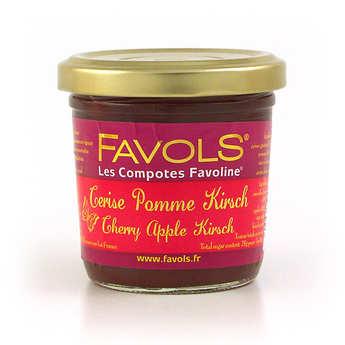 Favols - Compote cerise pomme kirsch Favoline