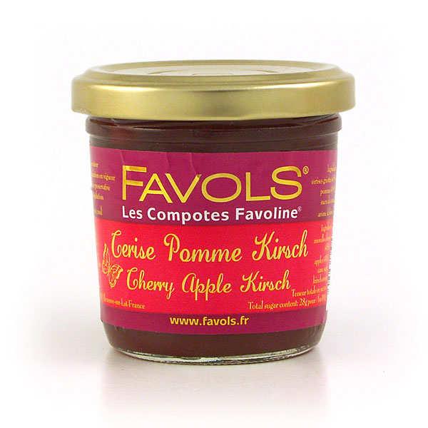 Compote cerise pomme kirsch Favoline