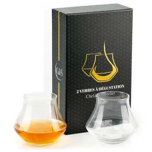 - Coffret de 2 verres dégustation Warm whisky et rhum