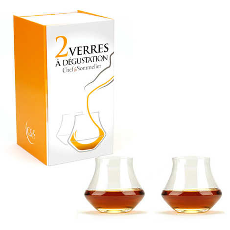 Chef & Sommelier - Coffret de 2 verres dégustation Warm whisky et rhum