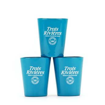 Trois Rivières - Coffret de 3 verres à shot Rhum Trois Rivières