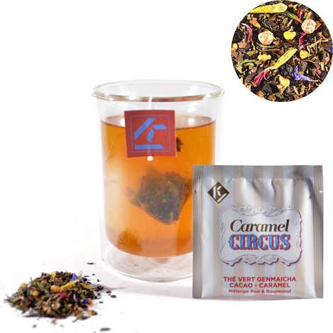 Ky Drinks - Caramel Circus - Thé vert Genmaicha cacao caramel