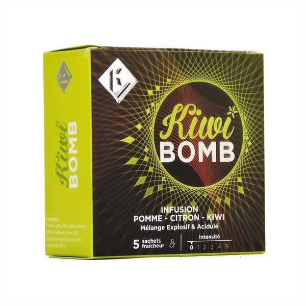 Kiwi bomb - infusion pomme kiwi citron - boite 5 sachets