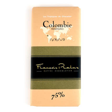 Chocolats François Pralus - Tablette Colombie - Trinitario 75%