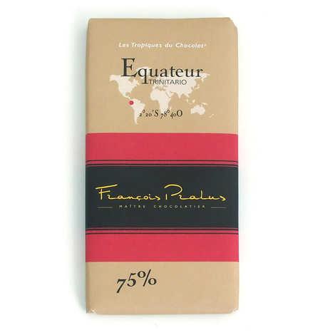 Chocolats François Pralus - Tablette Equateur - Arriba 75%