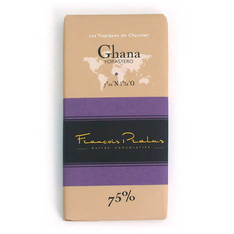 Chocolats François Pralus - Tablette Ghana - Forastero 75%