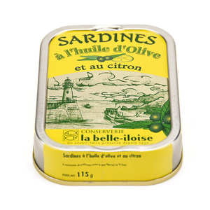 Conserverie La Belle Iloise - Sardines à l'huile d'olive et au citron