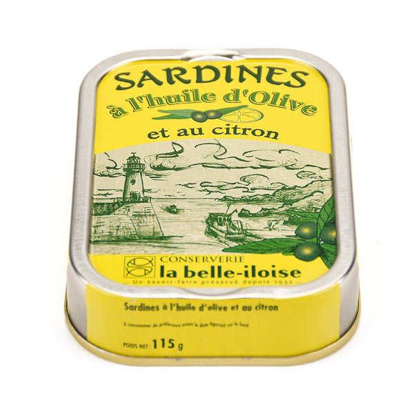 Sardines à l'huile d'olive et au citron en conserve
