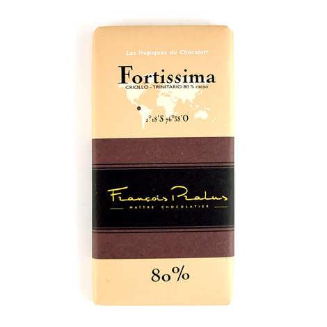 Chocolats François Pralus - Tablette Fortissima - Criollo, Forastero et Trinitario 80%