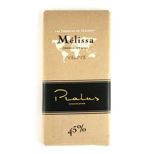 Chocolats François Pralus - Tablette de chocolat au lait corsé Mélissa Pralus 45%