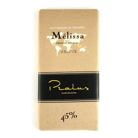 Chocolats François Pralus - Tablette de chocolat au lait corsé Mélissa - Criollo (Madagascar) 45%