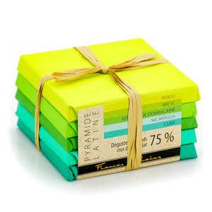 Chocolats François Pralus - La pyramide de chocolats bio Pralus