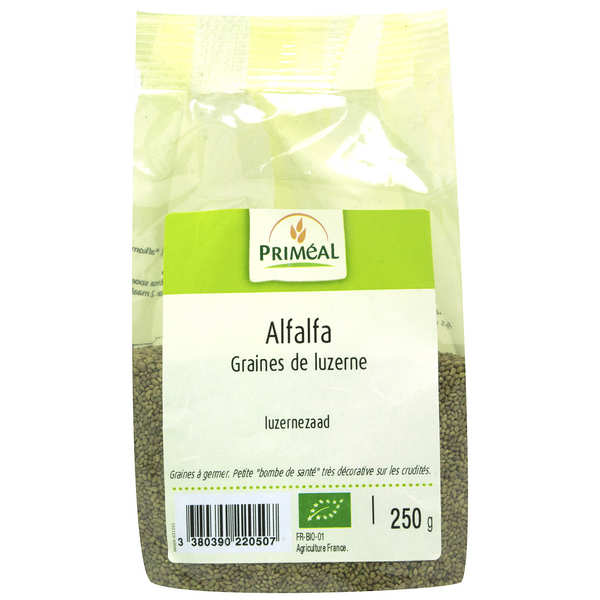 Alfalfa - graines de luzerne à germer bio
