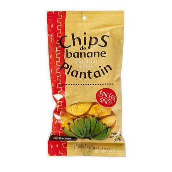 Racines - Chips de banane plantain épicées