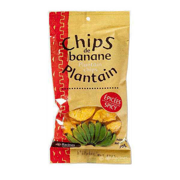 Chips de banane plantain épicées