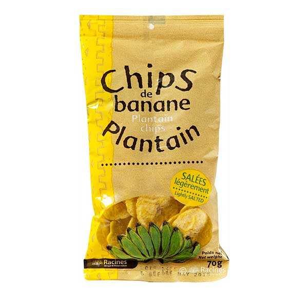Chips de banane plantain salées