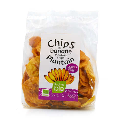 Racines - Chips de banane plantain douces bio