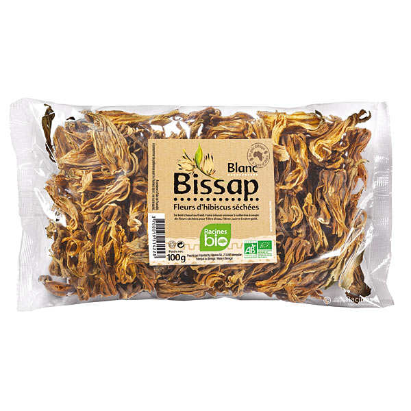 Organic Dried White Bissap Flowers