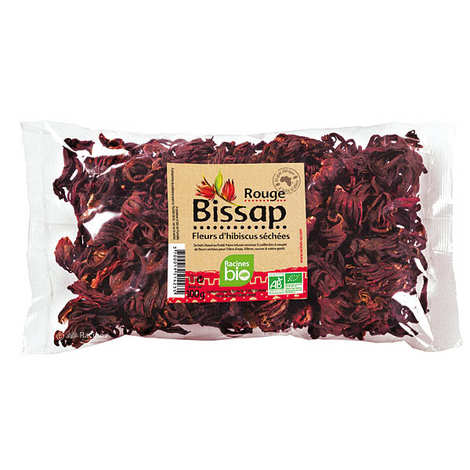 Racines - Fleurs de bissap (hibiscus) rouge séchées bio